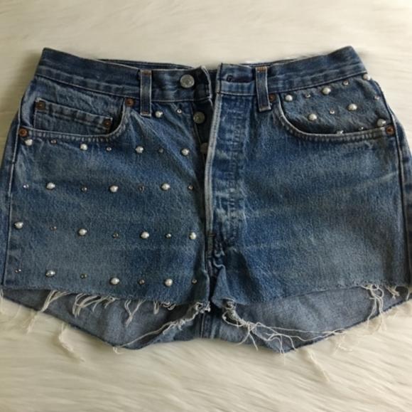 Vintage Levi's jeans with rhinestones